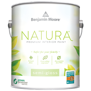 Benjamin Moore Natura Bedroom Semi-gloss Interior Paint